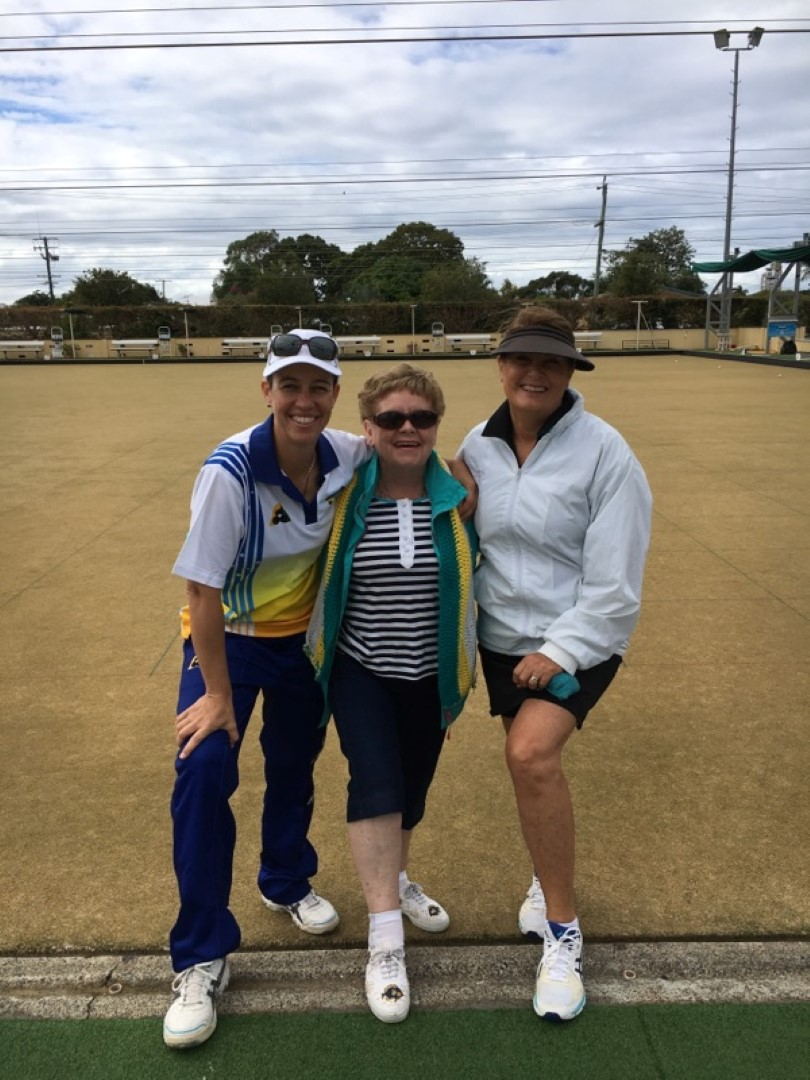 Gina and Mel at Australian Bowls Open (Large)